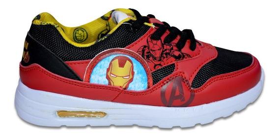 Zapatillas Marvel Ironman Cordon Niño Originales