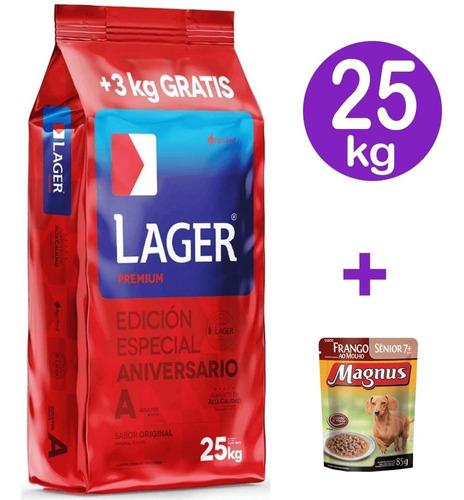 Imagen 1 de 5 de Lager Premium Perro Adulto 22kg Mas Envio
