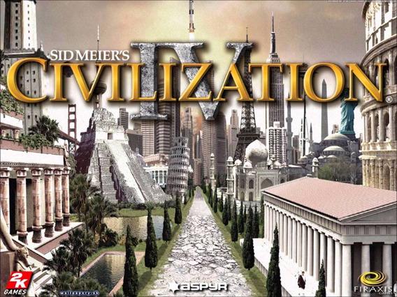 Pc-dvd Civilization Iv Game Rpg Top Semi-novo Box Completo