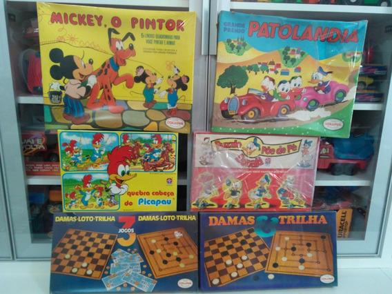 Brinquedo Antigo Patolândia Quebra Cabeça Pica Pau Mickey