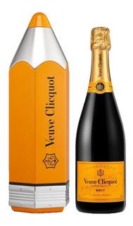 Champagne Frances Veuve Clicquot Brut Pencil Lata Regalo