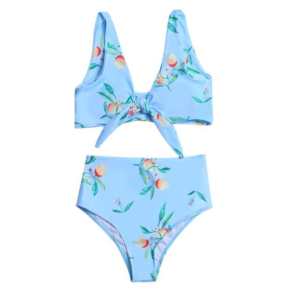 Conjunto De Bikini Creative Design Sostén C/relleno Y Nudo