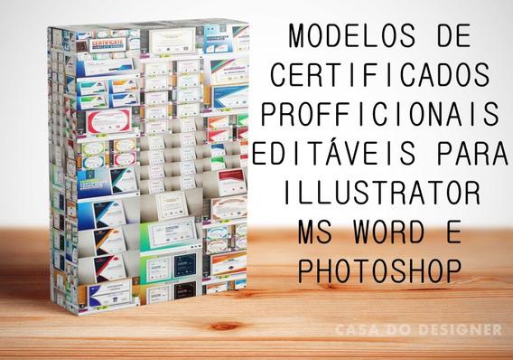 Modelos De Certificados Editáveis Nos Formatos Eps, Psd, Doc