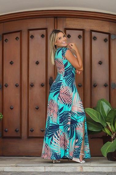 Vestido Longo Estampado Sereia Roupas Femininas #cd