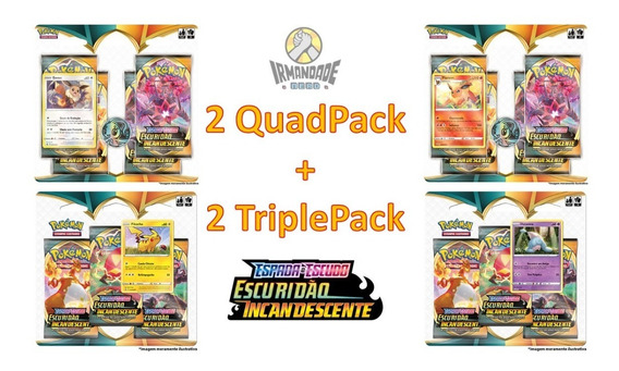 Blister Quádruplo + Triple Pack Ee3 - Pokémon - Copag