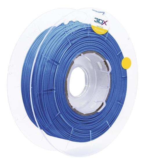 Filamento Pla Azul Metal 500g 1,75mm 3dx