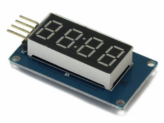 Módulo Display 7 Seg 4 Dígitos Vermelho Tm1637 Arduino - I2c