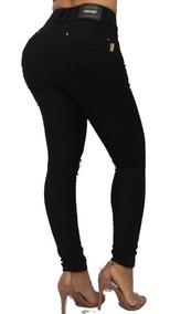 Calça Jeans Preta Set For Levanta Modela Bumbum 9875 Pit