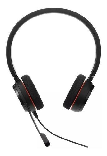 Imagem 1 de 3 de Headset Jabra Evolve 20 Ms Stereo Black 4999-823-109