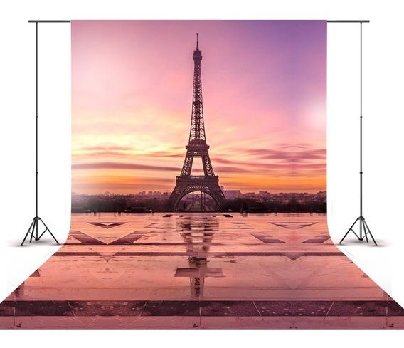 Fundo Fotográfico Newborn Paris Torre Eiffel Férias 1,5x2,2m