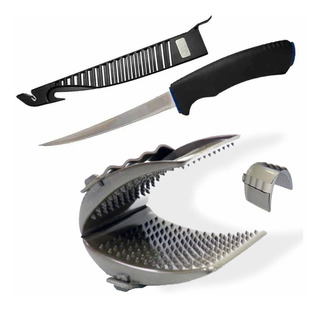 Faca Ms Fileteira Knife 6 + Luva Emifran Garra Peixe