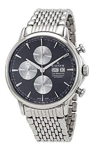 Relógio Edox Les Bemonts Cronógrafo Preto/prata Automático