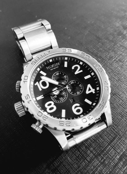 Relógio Nixon 51-30 Chrono Original Prata/preto