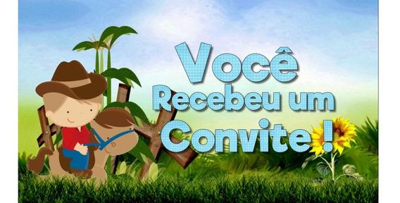 Convite Virtual Animado Personalizado Fazendinha