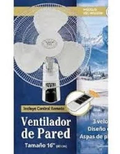 Ventilador De Pared 16 Blanco Con Control/remoto Vec W1655w