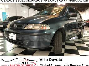 Fiat Palio 1.3 Gnc Aire Acondicionado 2003 Azul Cpm