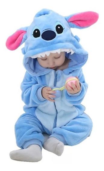 Macacão Inverno Para Bebê Stitch 18 Á 24 Meses