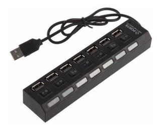 Hub Usb - Multiplicador 7 Puertos Usb - Con Switch - Nuevo