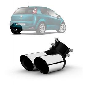 Ponteira Para Escapamento Fiat Punto 2007 A 2017 Em Aço Inox