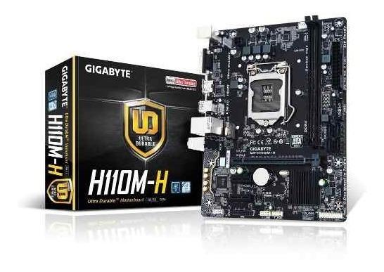 Placa Mae Gigabyte Ga H110m-h Ddr4 Lga 1151 7 Geracao Intel