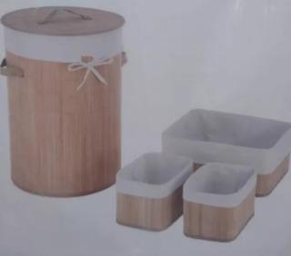 Cestos De Bambú Organizador De Ropa Lavandería, Recamara