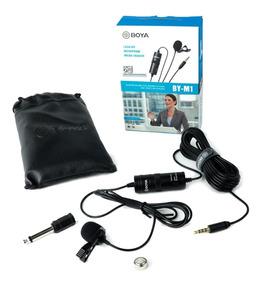 Microfone Lapela By-m1 Boya Original Para Câmera E Celular