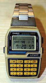 Relógio Casio Data Bank Dbc 150 1477 Pulseira Metal