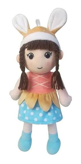 Boneca De Pano Ana Cutie Dolls De 35cm Multikids - Br1140