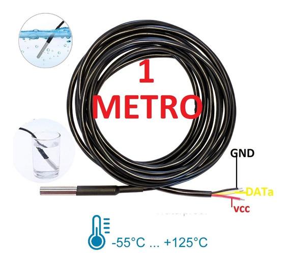 Sensor Temperatura Ds18b20 Prova Agua Waterproof Arduino 1m