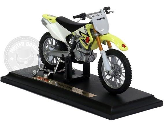 Miniatura Moto Suzuki Rm- Z250 Amarela Maisto 1/18
