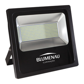 Refletor Blumenau Led Slim Preto 200w 6000k Bivolt
