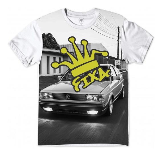 Camiseta Gol Quadrado Carro Rebaixado Suspensão Fixa Branca