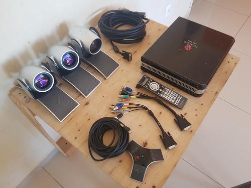 Vídeo Conferência Polycom Hdx 8000 Completo + Câmera Extra