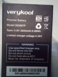 Bateria 365897p De Verykool S6004..12 Vdes
