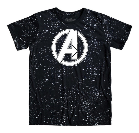 Playera Mascara De Latex Avengers Space Logo Endgame