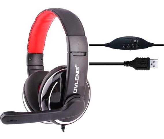 Fone De Ouvido Ovleng Q6 Com Microfone Ideal Para Jogos
