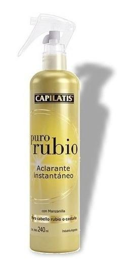 Aclarante Instantaneo Capilatis Cabello Rubio O Castaño