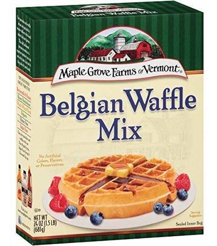 Maple Grove Farms Mezcla Belga De Waffle, 24 Onzas