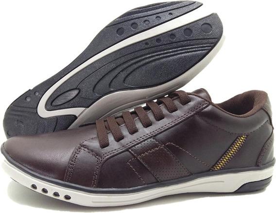 Sapatenis Sapato Masculino Tenis Casual Couro Shadow Barato