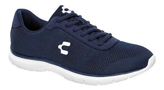 Charly Sneaker Casual Textil Azul Niño Textura C92656 Udt