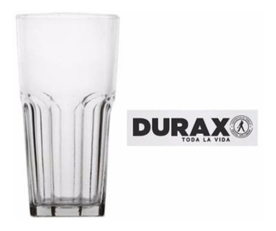 Vaso Facetado X12 330ml Transparente Durax Gaseosa Bar Resto