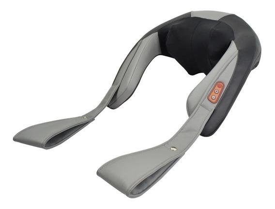 Masajeador Caliber Cervical Lumbar Calor 8 Rodillos Premium