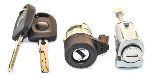 Imagem 1 de 7 de Kit Cilindro Ignição Porta Esquerda Polo Hatch Sedan Após 02