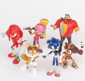 Colección De 6 Figuras De Sonic Personajes 7cm
