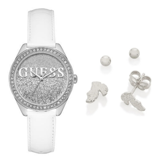 Kit Relógio Feminino Guess 92655l0gtnc2kt2 Branco+ Rommanel