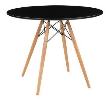 Mesa De Comedor Replica Eames 90cm - Negro