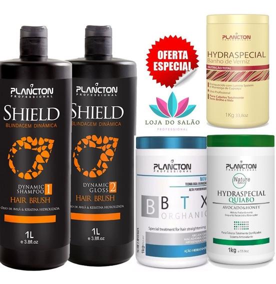 Progressiva Shield Btox Plancton Mascaras Verniz Quiabo 1kg