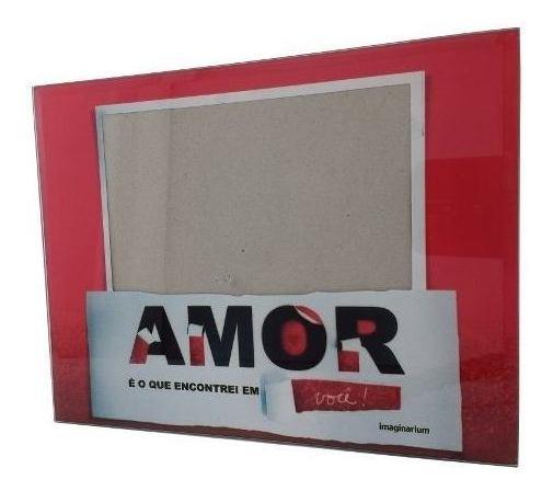 Porta-retrato Quadro Fotos 22x17cm Amor Imaginarium