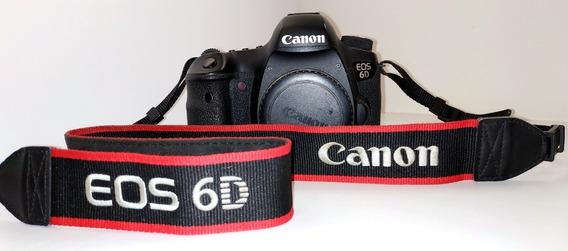 Canon 6d Wg + Objetiva Canon 50mm 1.8 + Bateria + Carregador
