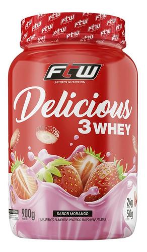 Delicious 3 Whey 900g - Ftw Sabor Morango
